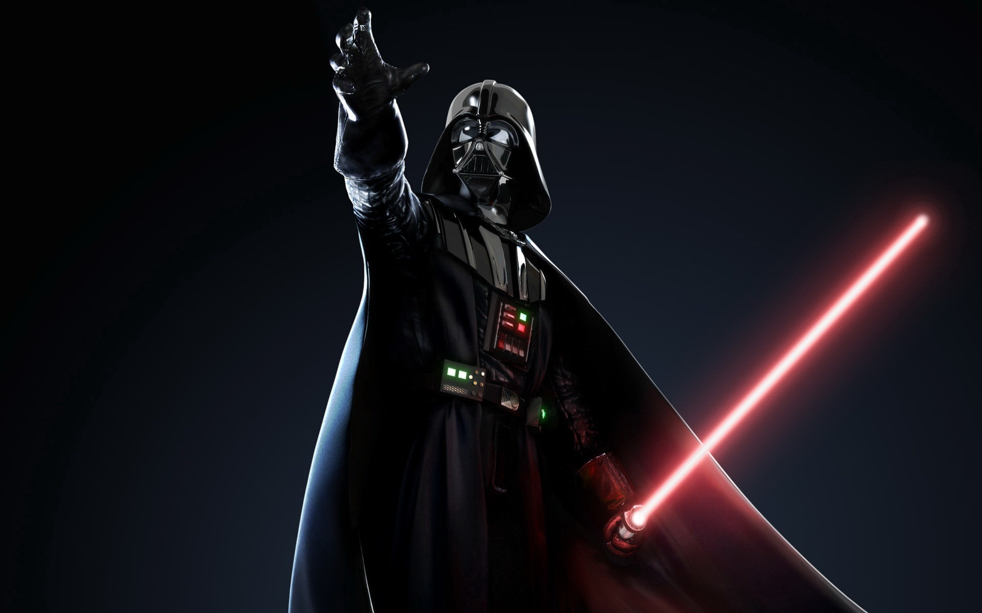 Darth vader is the primary antagonist a dark ruthless figure out to