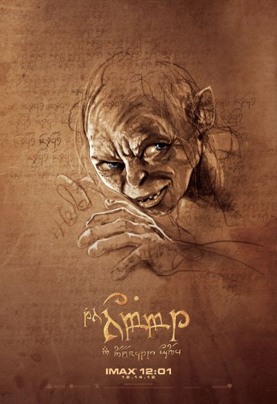 Hobbit Gollum Sketch 1600x2366