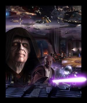 Coruscant poster Episode III