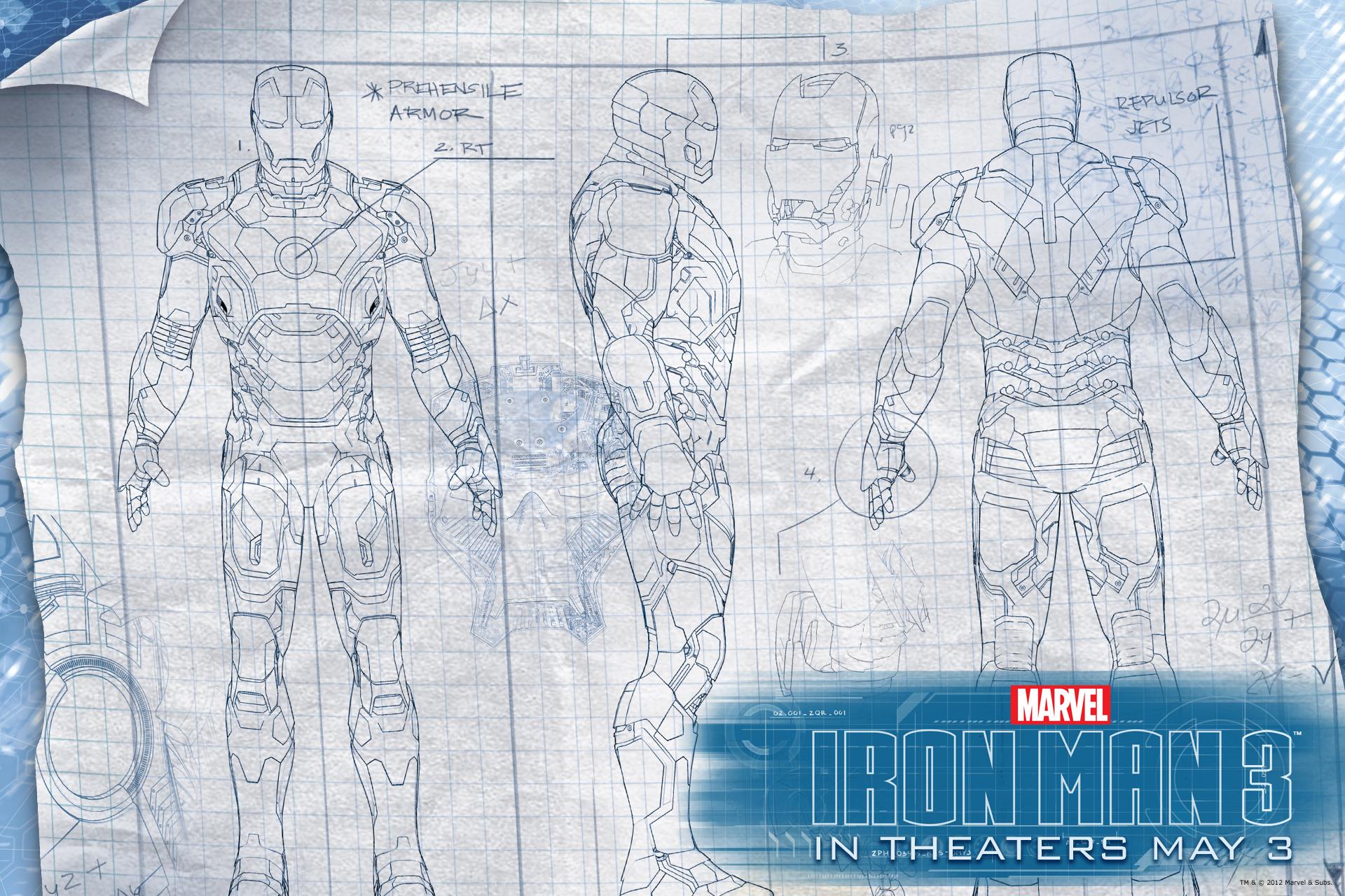 Iron Man Suit Blueprints Wallpapers Schematics 3 Wallpaperreggies Takecom