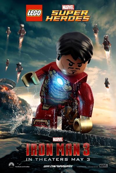 Lego Iron Man 3 Poster