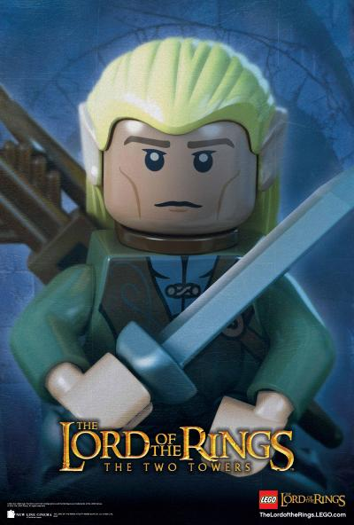 Lego Lord of the Rings the Two Towers Poster