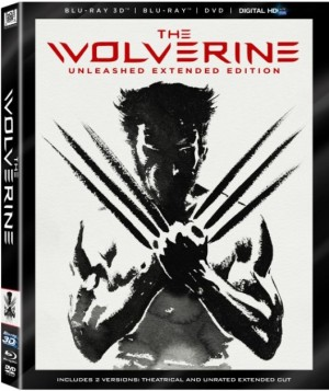 The Wolverine 3D Blu-ray box Cover art