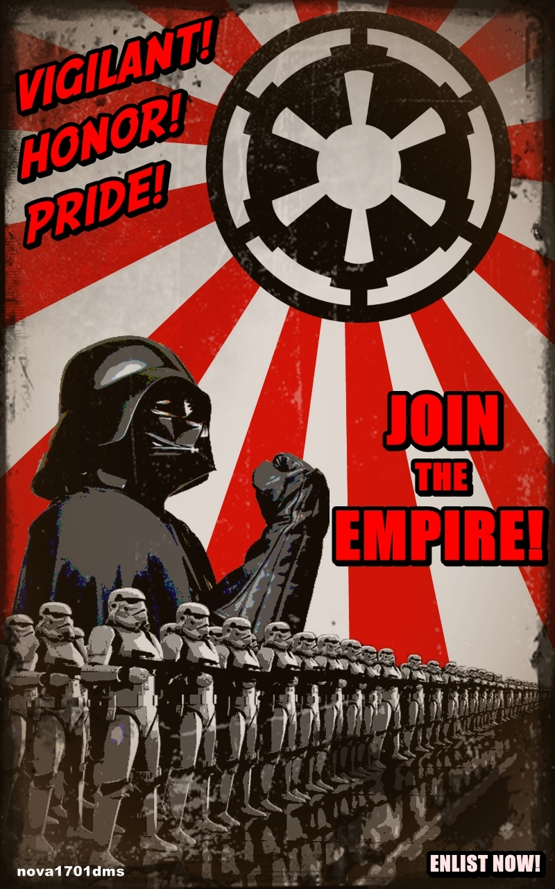 star wars empire recruitment poster 2reggie 39 s. Black Bedroom Furniture Sets. Home Design Ideas