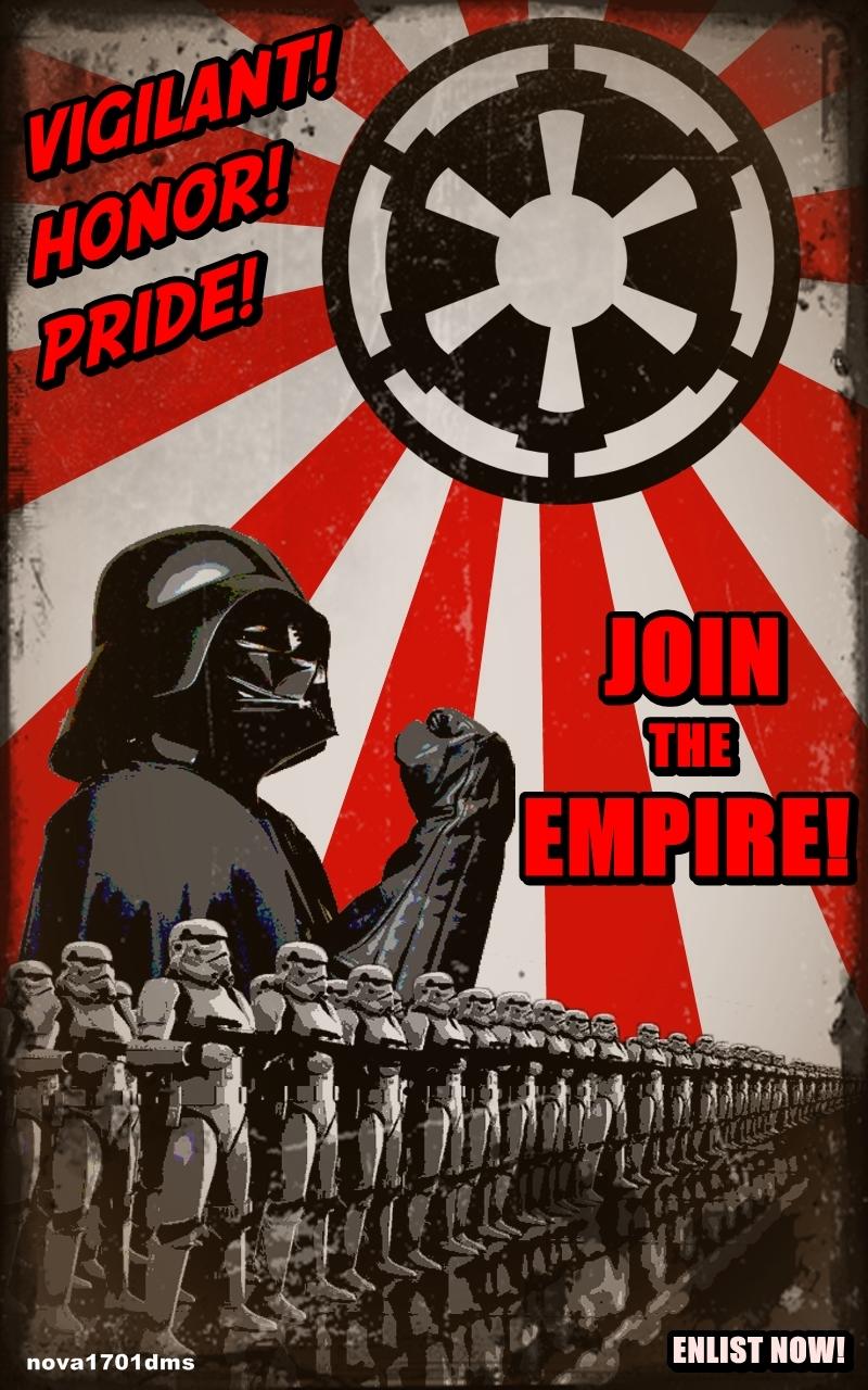 star wars empire recruitment poster 2 reggie 39 s. Black Bedroom Furniture Sets. Home Design Ideas