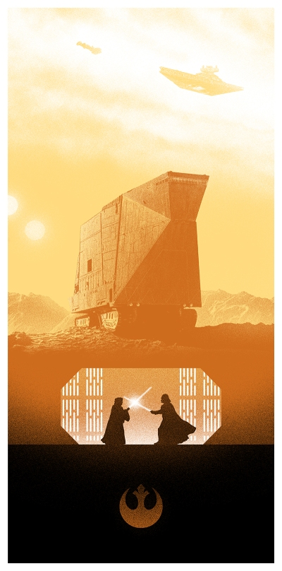 Marko Manev Star Wars Triptych poster A New Hope