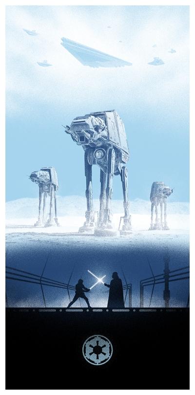 Marko Manev Star Wars Triptych poster Empire Strikes Back