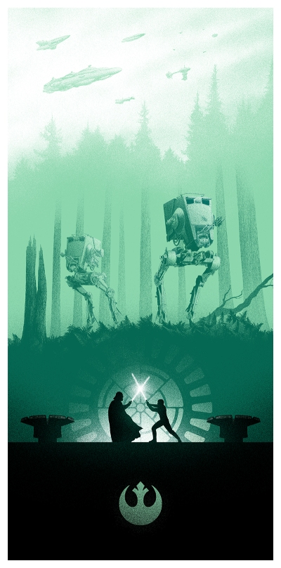 Marko Manev Star Wars Triptych poster Return of the Jedi