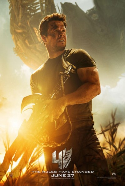 Transformers Age of Extinction Wahlberg Poster