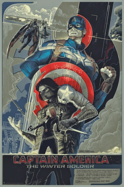 Captain America The Winter Soldier Mondo Poster by Rich Kelly