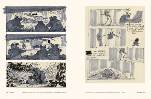 Star Wars Story Boards The Original  Trilogy Page 4