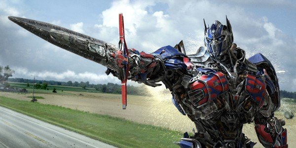 Optimus Prime in Transformers Age of Extinction , in theaters 6/27/14.