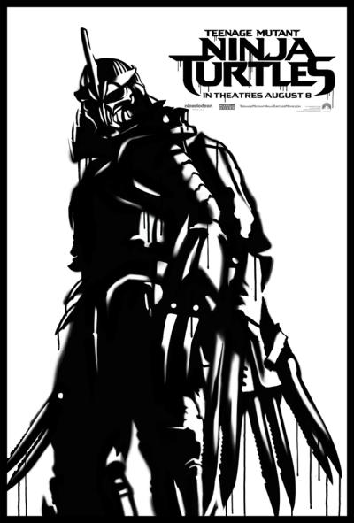 TMNT Street Art Posters Shredder