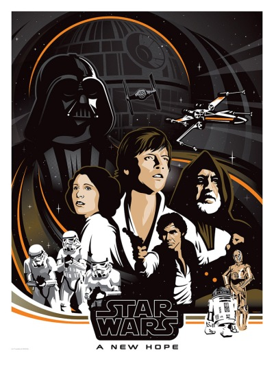 Star Wars A New Hope by Brad Bishop