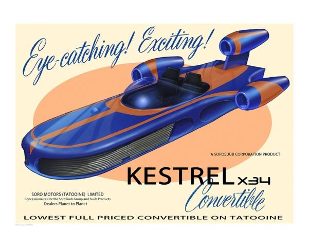 Star Wars Kestrel X-34 by Peter Ferk
