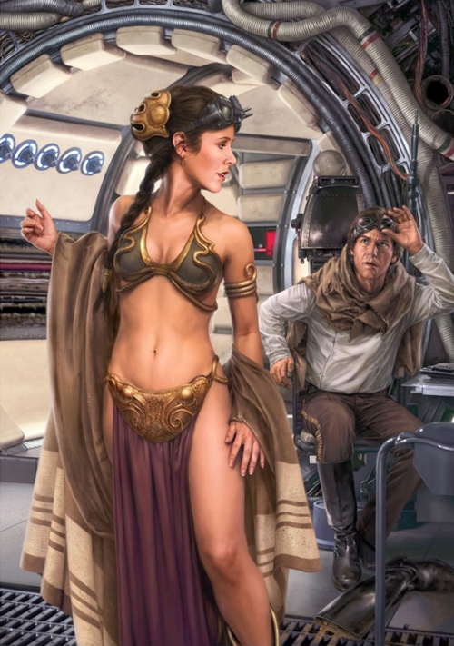 Star Wars Slave leia and Han