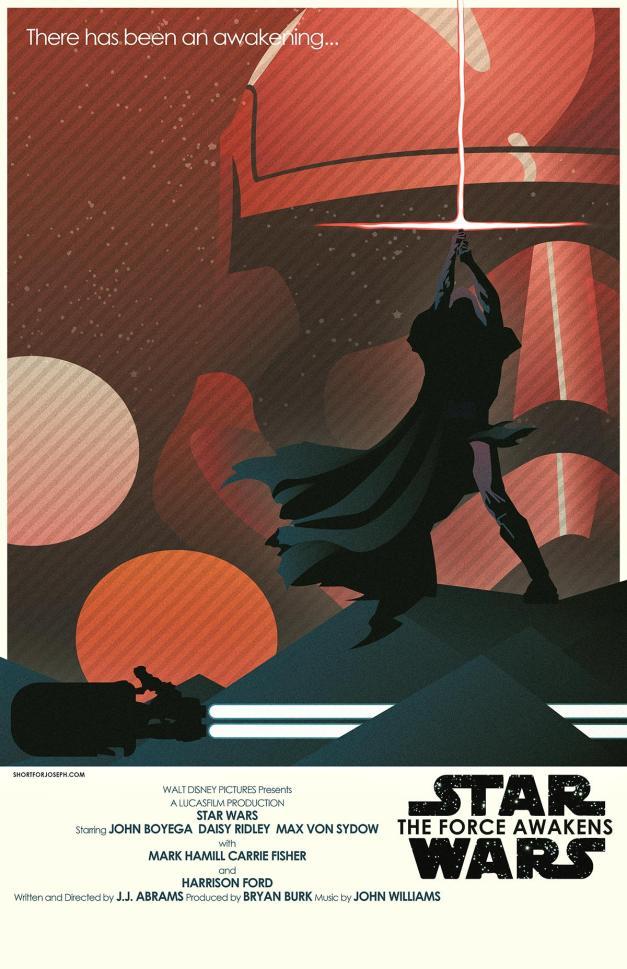 Star Wars The Force Awakens Fan Poster 8