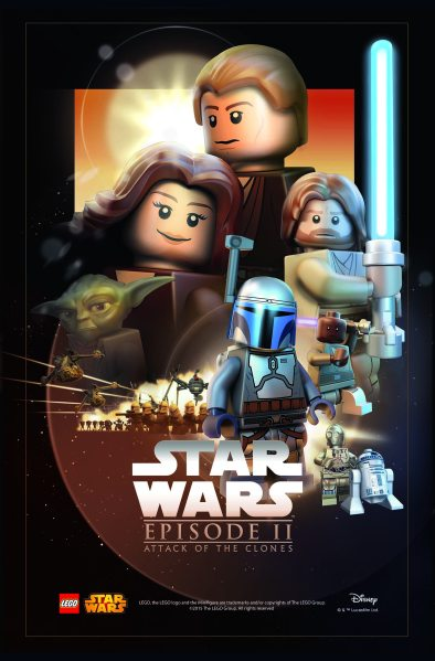 Star Wars Lego Attack of the Clones Poster