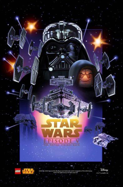 Star Wars Lego Empire Strikes Back Poster