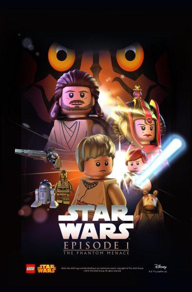 Star Wars Lego The Phantom Menace Poster