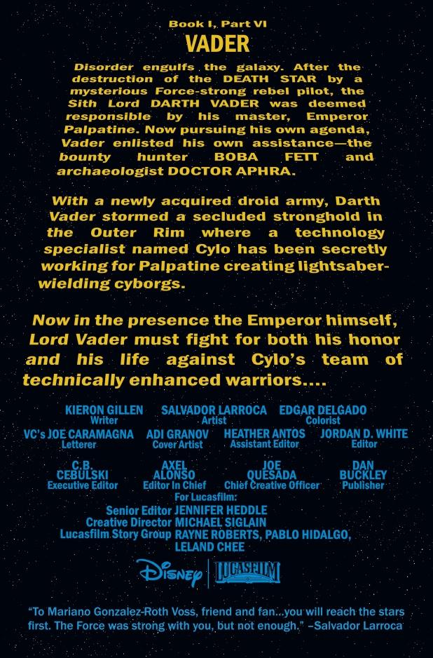 Darth Vader #6 Page 1