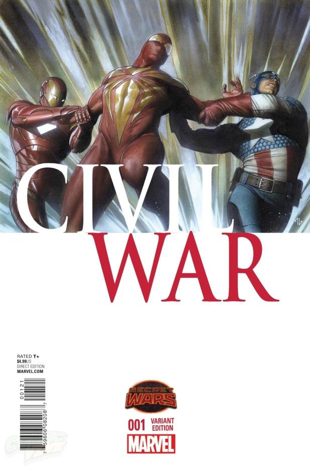 Civil War #1 Cover B
