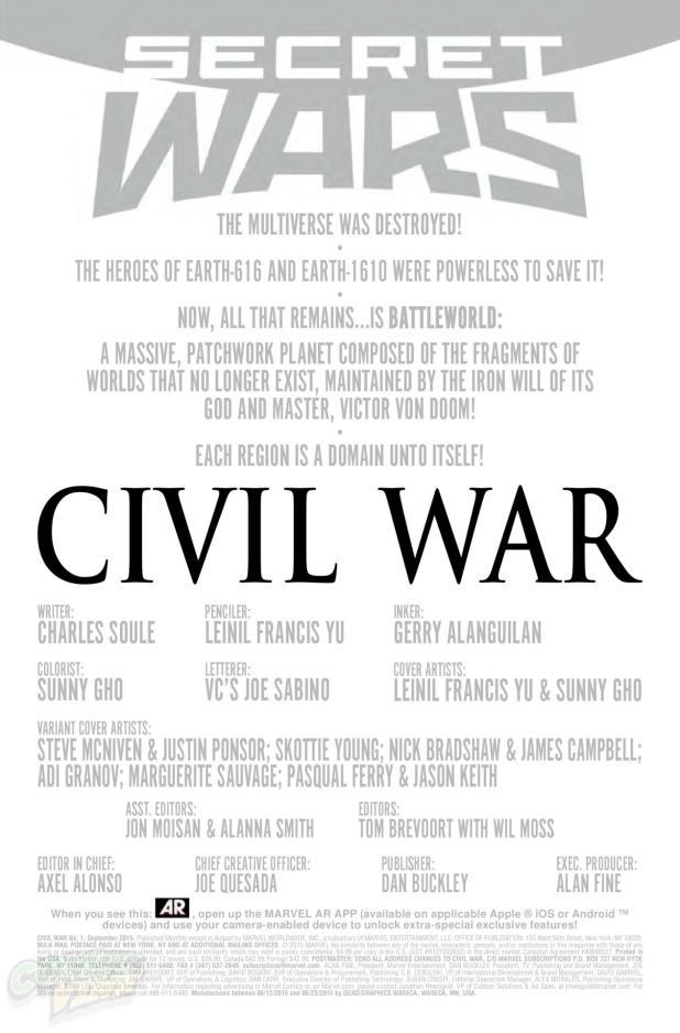 Civil War #1 Page 1