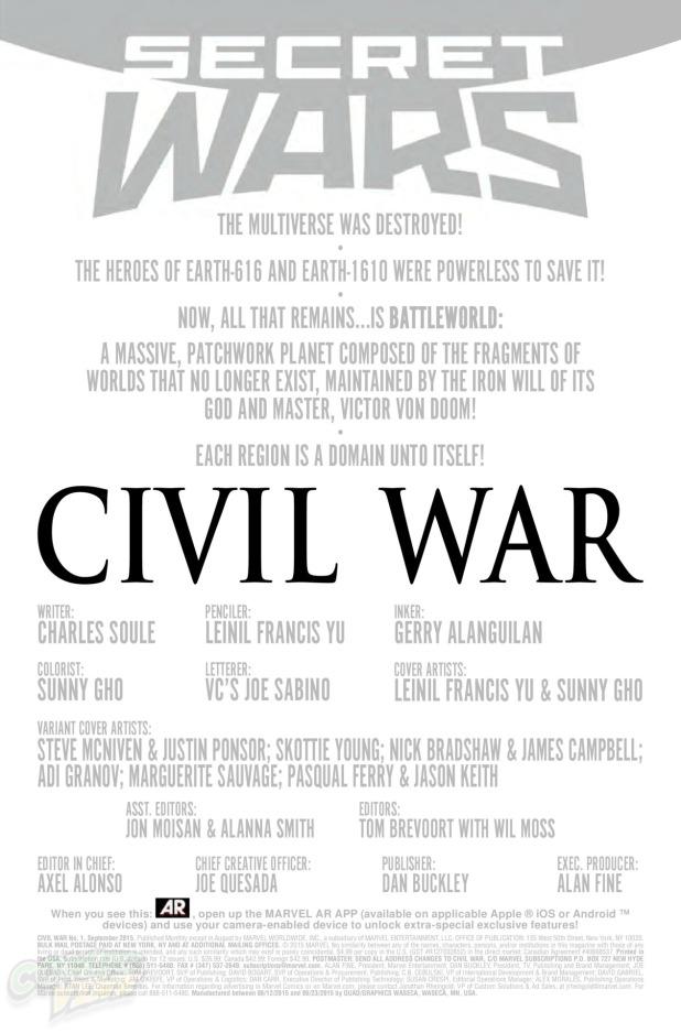 Civil War #1 Page 1