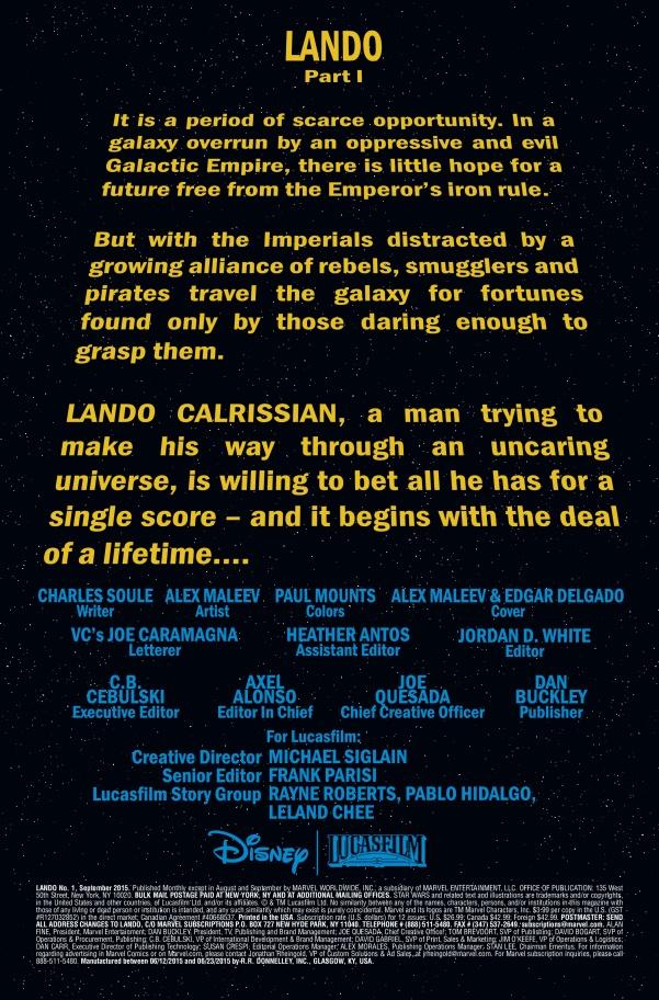 Lando #1 Page 1