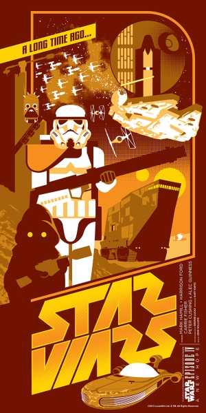 Star Wars A New Hope Poster by Mark Daniels