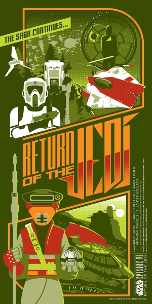 Star Wars Return of the Jedi Poster by Mark Daniels