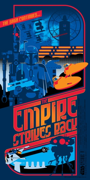 Star Wars The Empire Strikes Back Poster by Mark Daniels