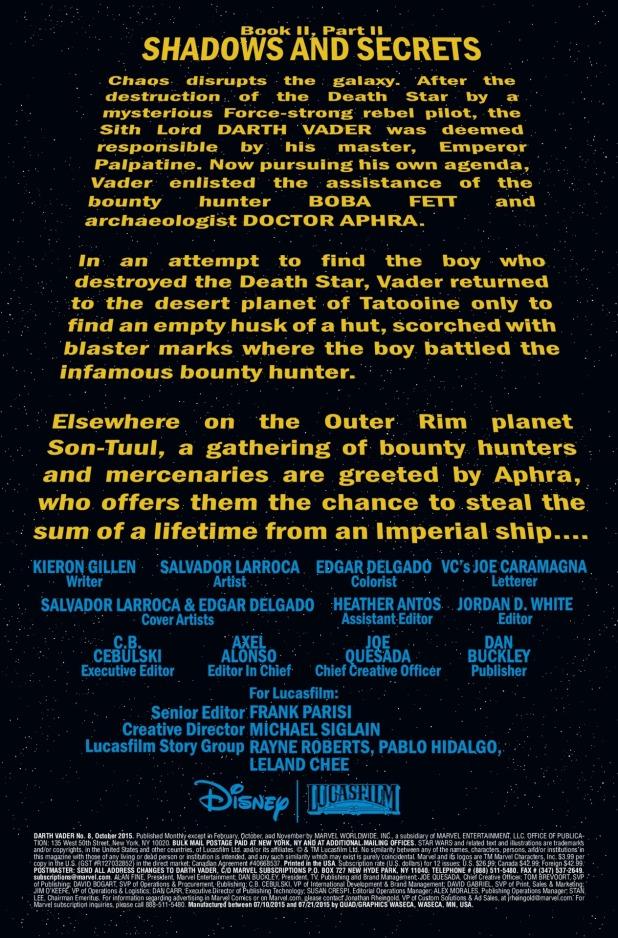 Darth Vader #8 Page 1