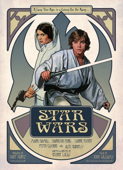 Star Wars Poster by Russell Walks 2A