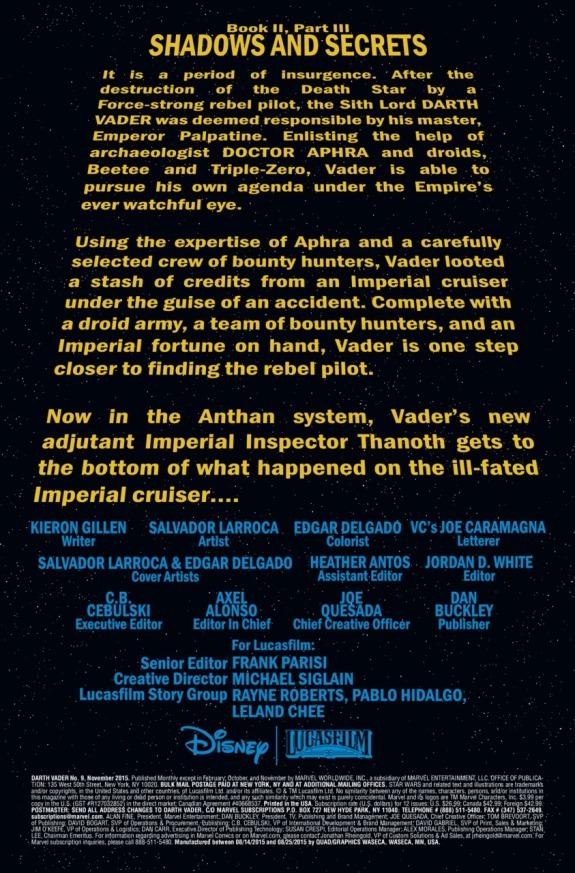 Star Wars Darth Vader #9 Page 1