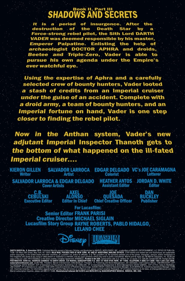 Star Wars Darth Vader #9 Page 1