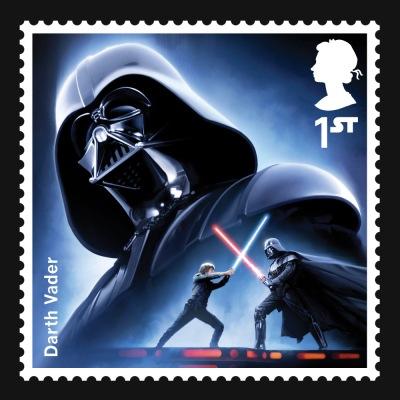 Star Wars UK Stamp #1 Darth Vader