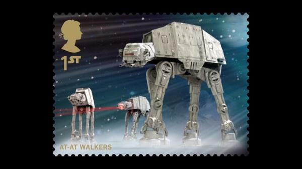 Star Wars UK Stamp #15 At-At Walkers