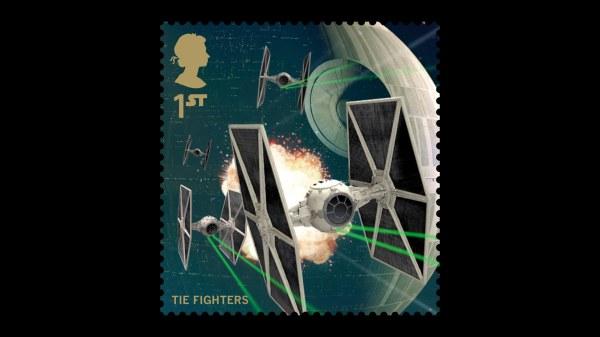 Star Wars UK Stamp #17 Tie Fighters