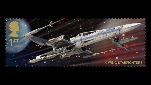 Star Wars UK Stamp #18 X-Wing Starfighters