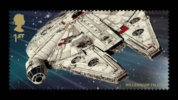 Star Wars UK Stamp #19 Millennium Falcon
