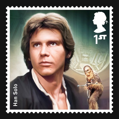 Star Wars UK Stamp #5 Han Solo