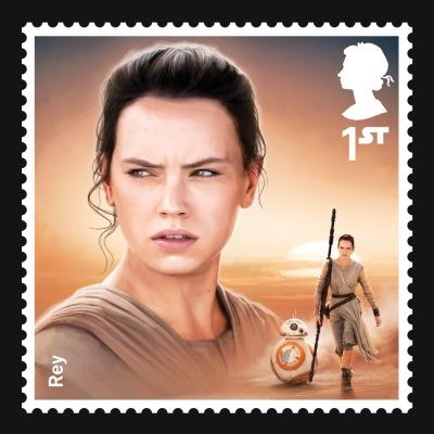 Star Wars UK Stamp #6 Rey