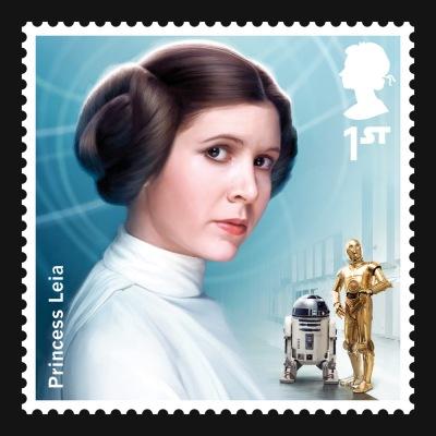 Star Wars UK Stamp #7 Leia