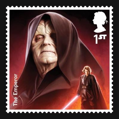 Star Wars UK Stamp #8 Emperor