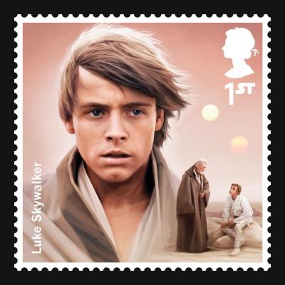 Star Wars UK Stamp #9 Luke Skywalker