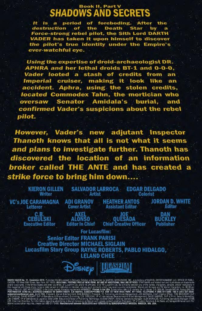 Darth Vader #11 Page 1