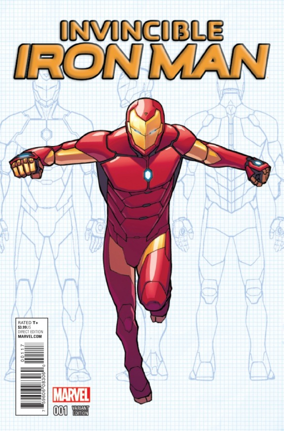 Invincible Iron Man #1 Cover B