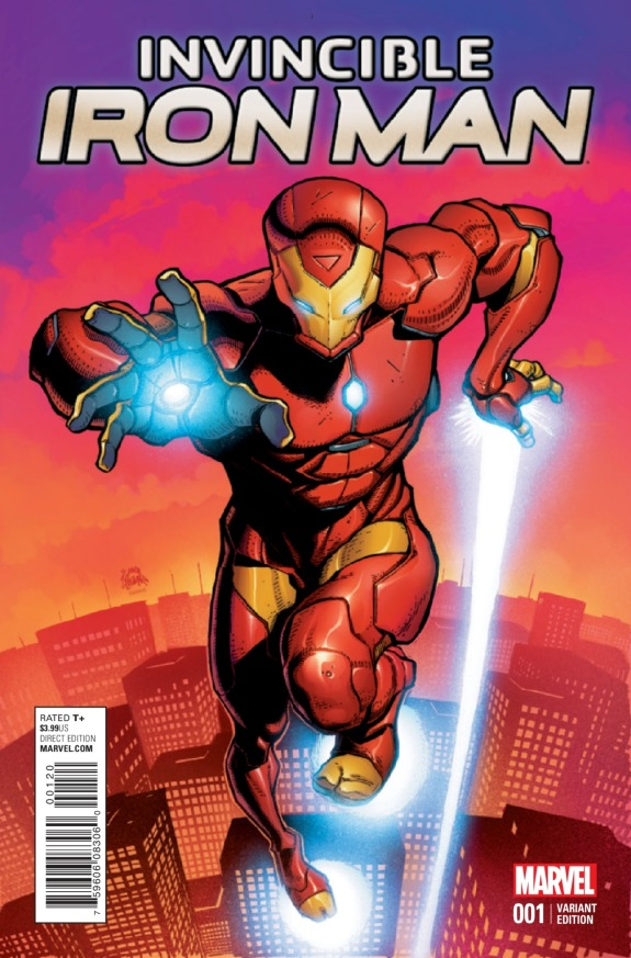 Invincible Iron Man #1 Cover E
