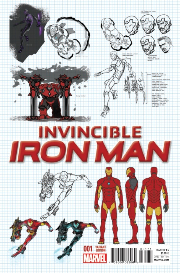 Invincible Iron Man #1 Cover K